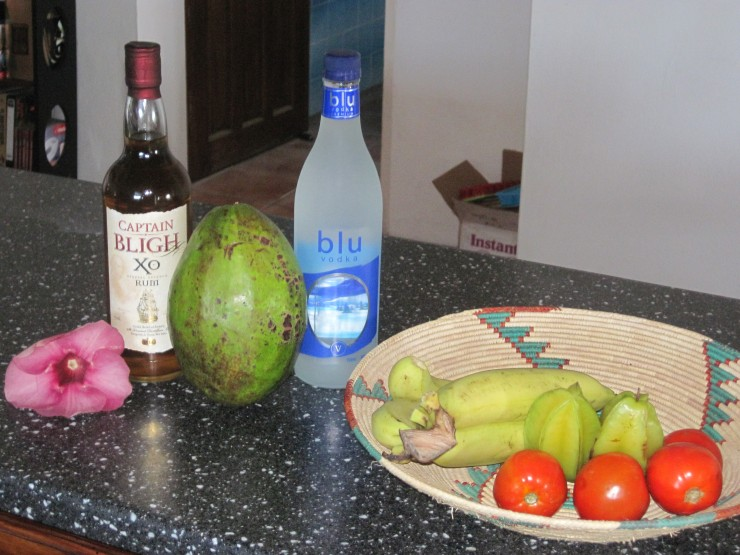 The best fruits, veggies and rum.
