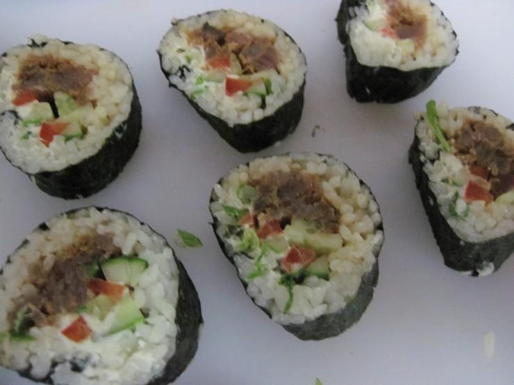 sushi - Bonito- aka blue-fin tuna- fresh-fresh!!