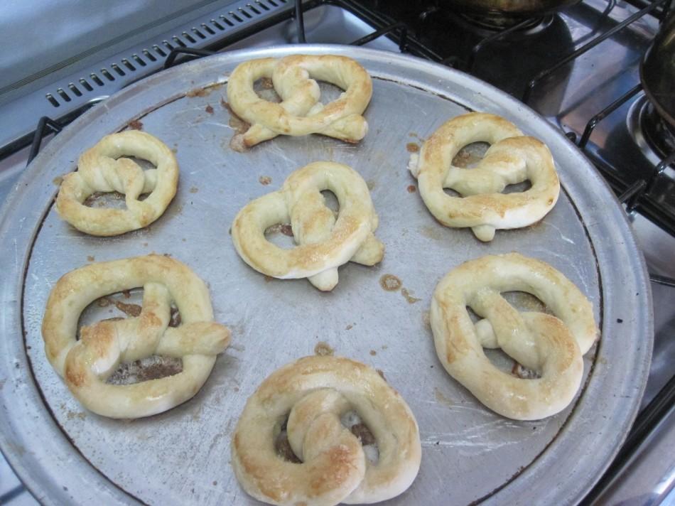 Homemade German style soft pretzles -- YUMM!!
