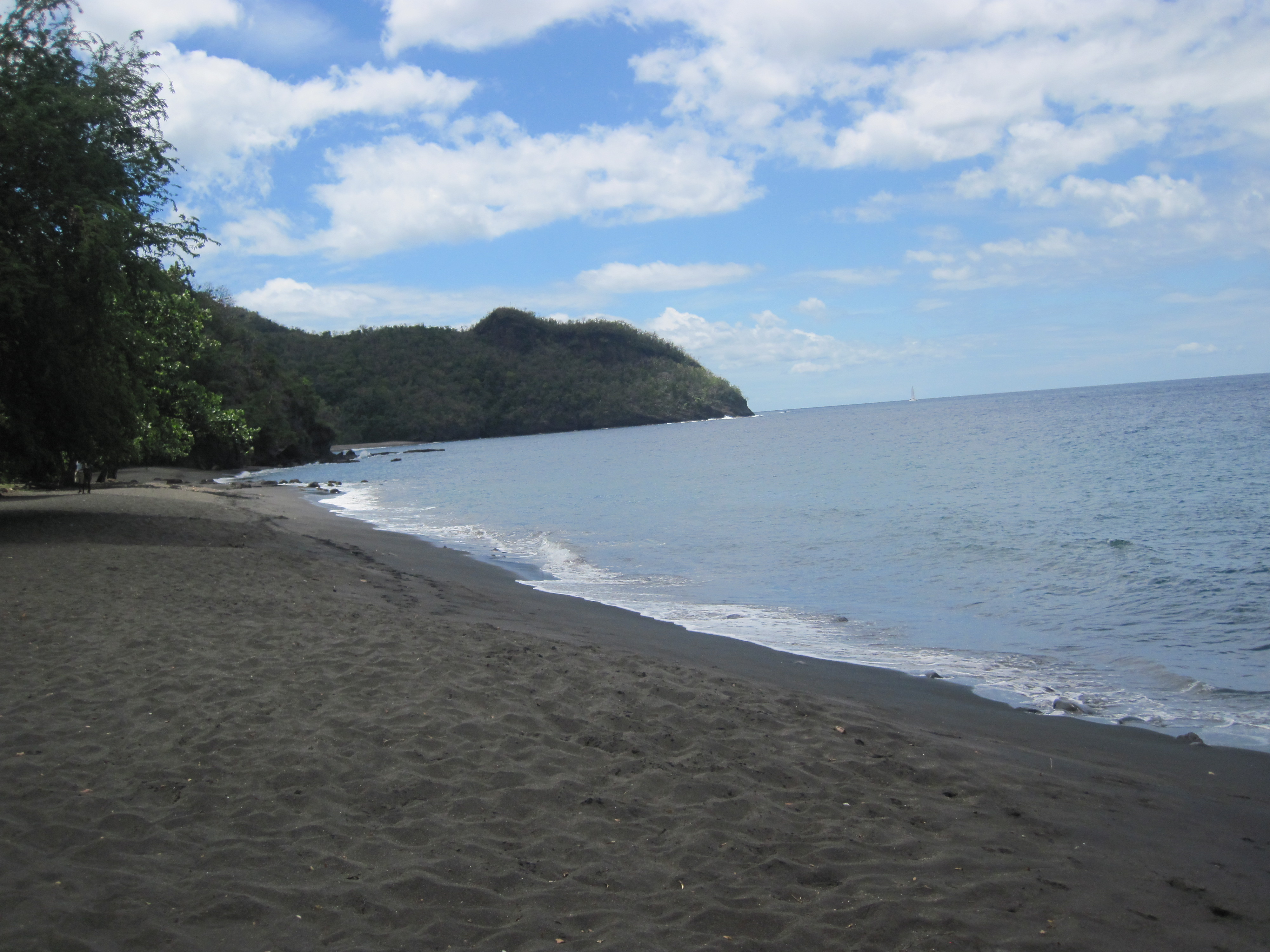 Where are there black sand beaches my web value for Black sand beach caribbean